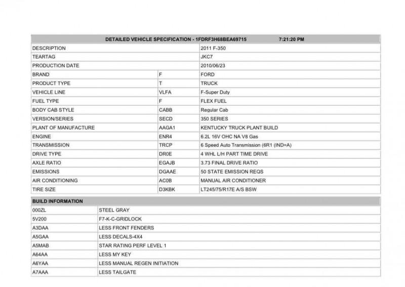 Ford F-350 Super Duty 2011 price $10,900
