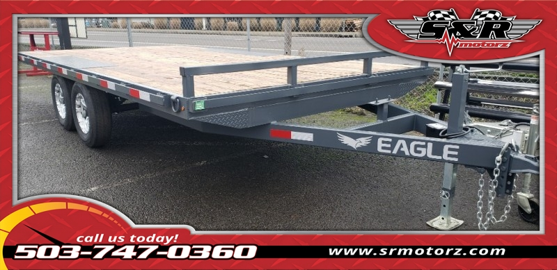 8'6 X16' TANDEM AXLE EAGLE DECKOVER 10K Eagle Trailers MFG 2019 price On The Lot Today!