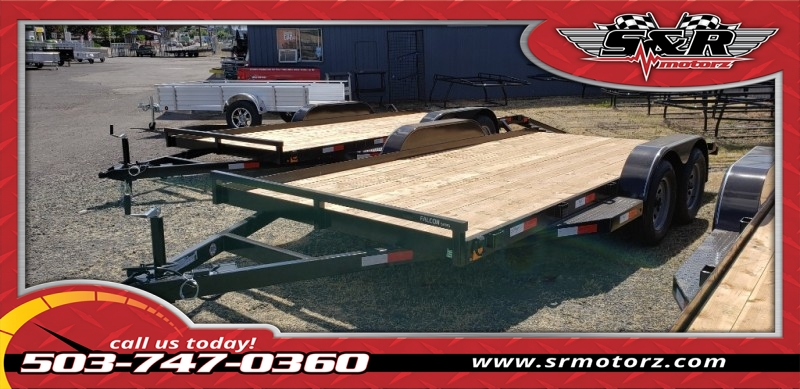 2019 7'X16' FLATBED FALCON TANDEM AXLE 7K Eagle Trailers MFG