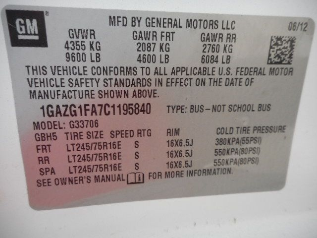CHEVROLET EXPRESS G3500 2012 price $11,950