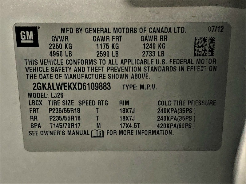 GMC Terrain 2013 price $10,450