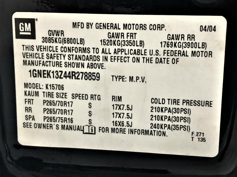 Chevrolet Tahoe 2004 price $5,950