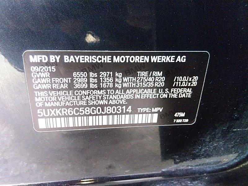 BMW X5 2016 price $43,500