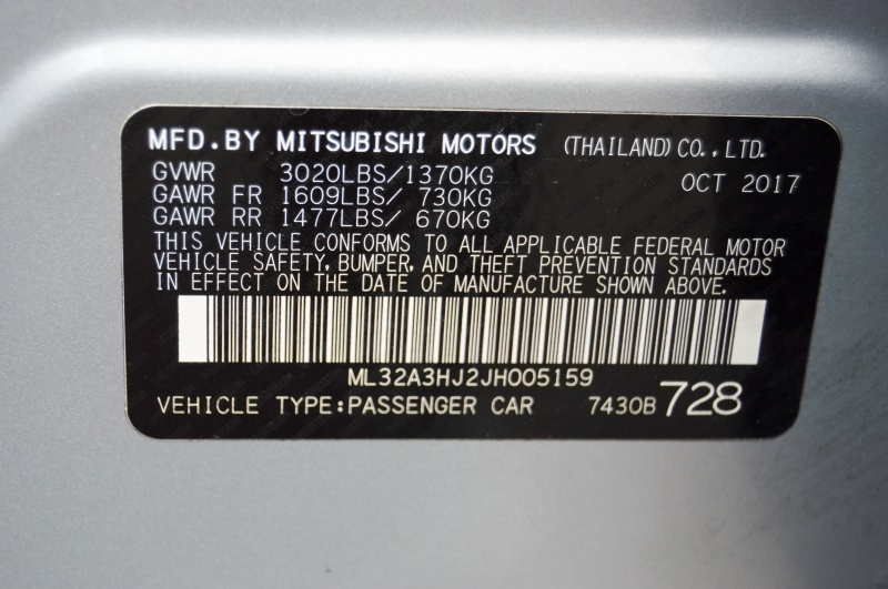 Mitsubishi Mirage 2018 price $9,490