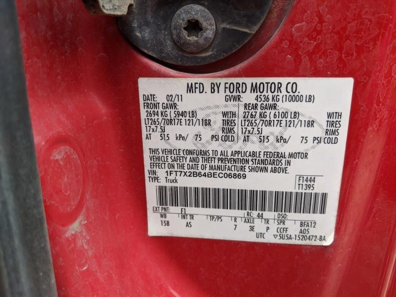Ford Super Duty F-250 SRW 2011 price $11,995
