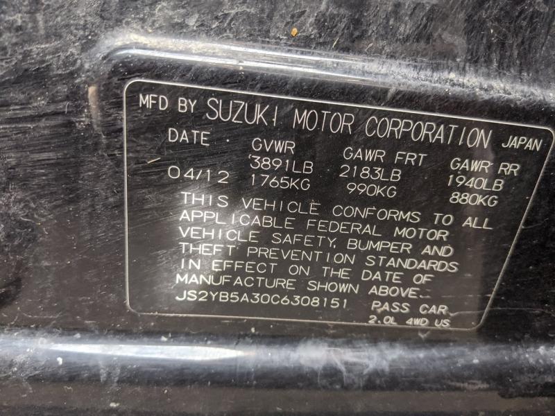 Suzuki SX4 2012 price $4,995