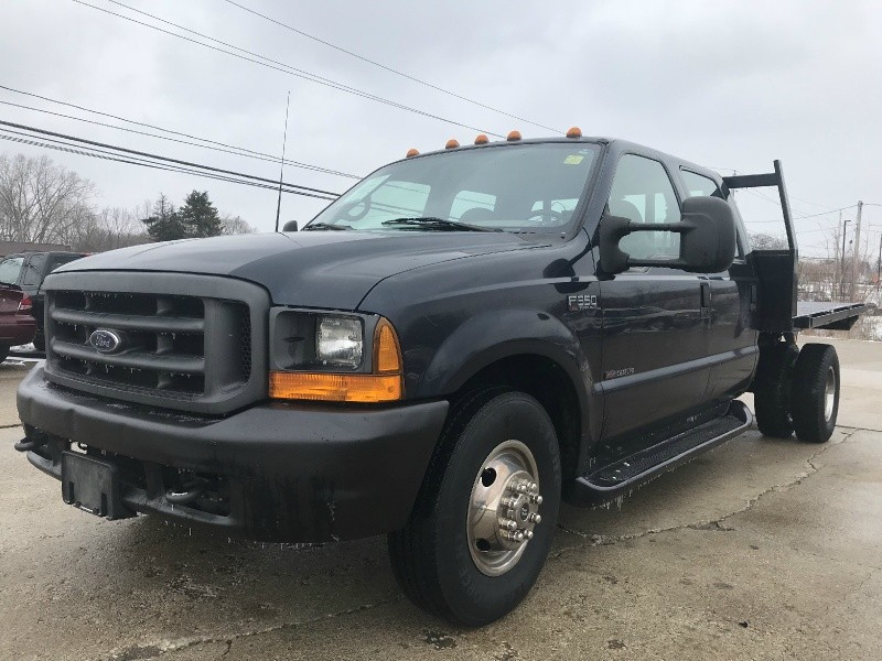 2000 FORD F350 DUALLY DIESEL 7.3 POWERSTROKE 6 SPEED MANUAL TRANNY CREW CAB w/ONLY 158K MILES ...