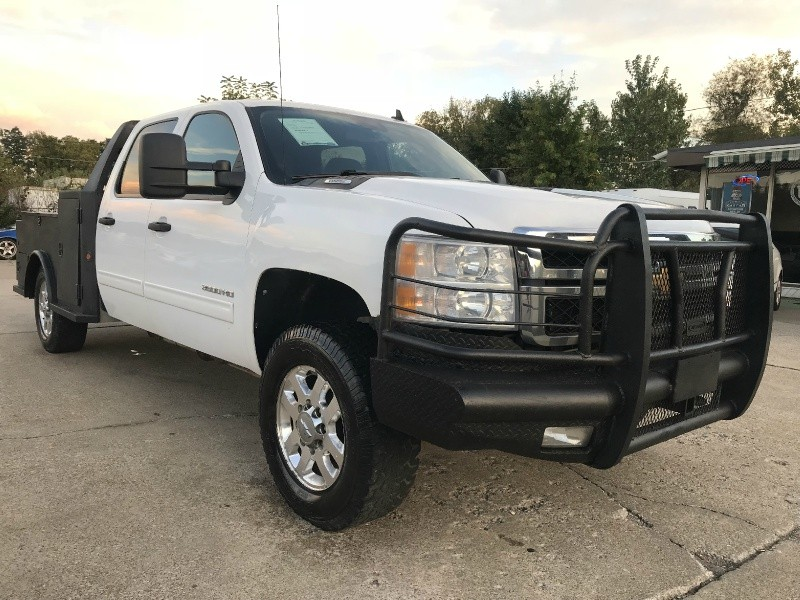 2011 chevrolet silverado 3500hd crew cab 4x4 utility bed clean w only 118k miles 1st quality. Black Bedroom Furniture Sets. Home Design Ideas