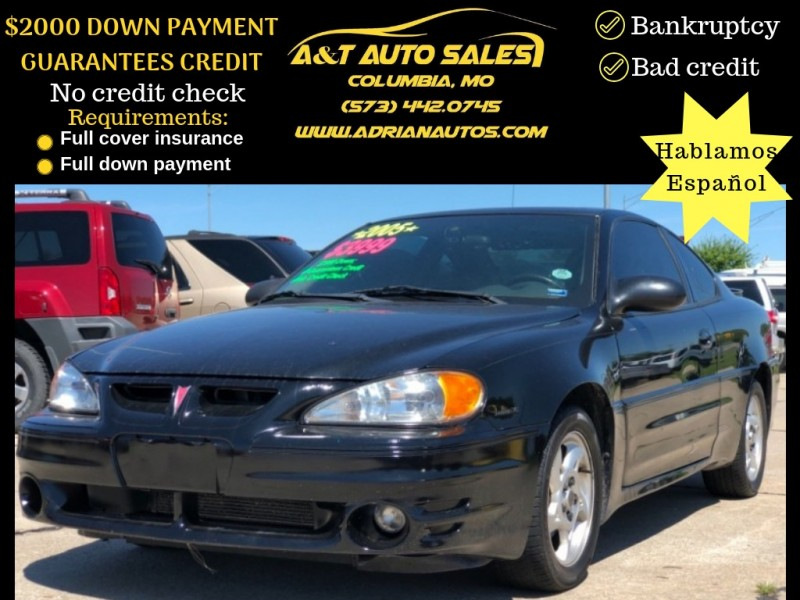 Pontiac Grand Am 2005 price 1999 DOWN PAYMENT