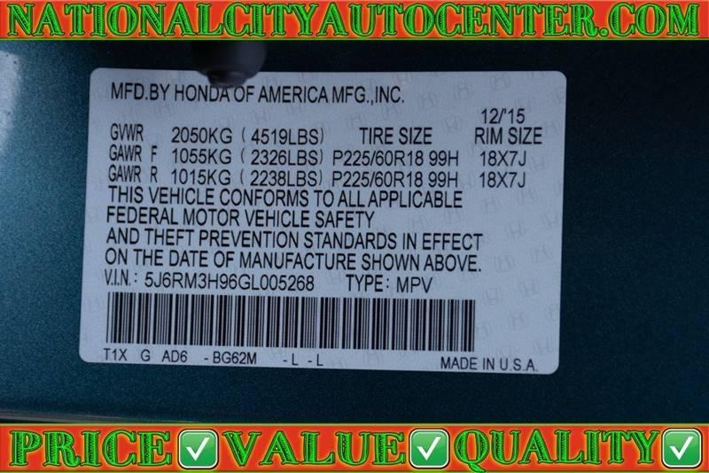 Honda CR-V 2016 price $22,700
