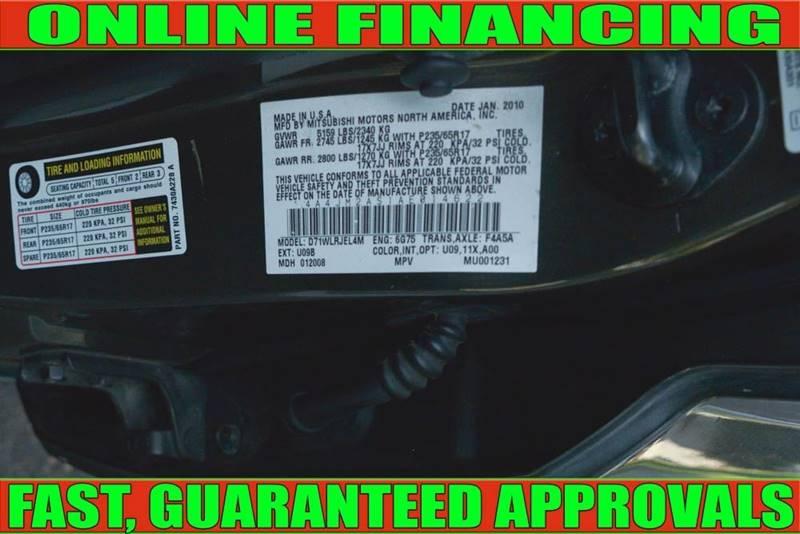 Mitsubishi Endeavor 2010 price $6,900