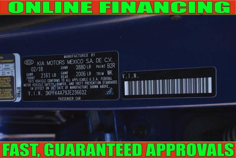 Kia Forte 2018 price $11,700
