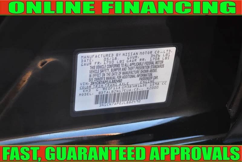 Nissan Versa 2018 price $12,498