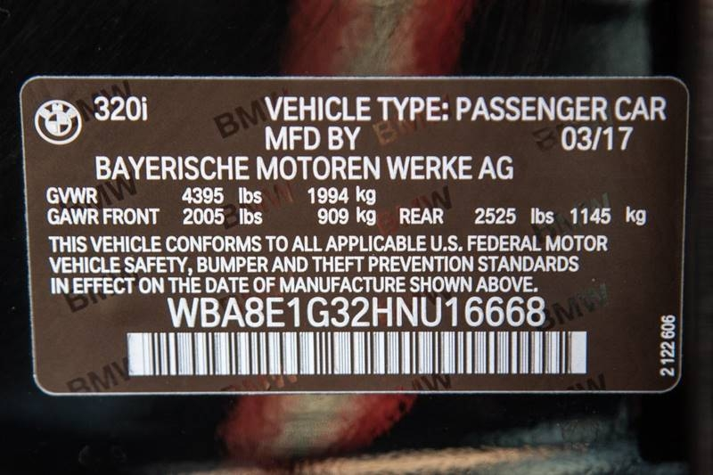 BMW 3 Series 2017 price $17,990